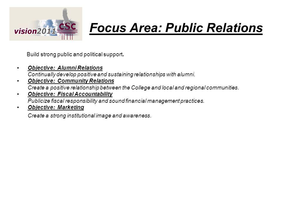 Focus Area: Public Relations