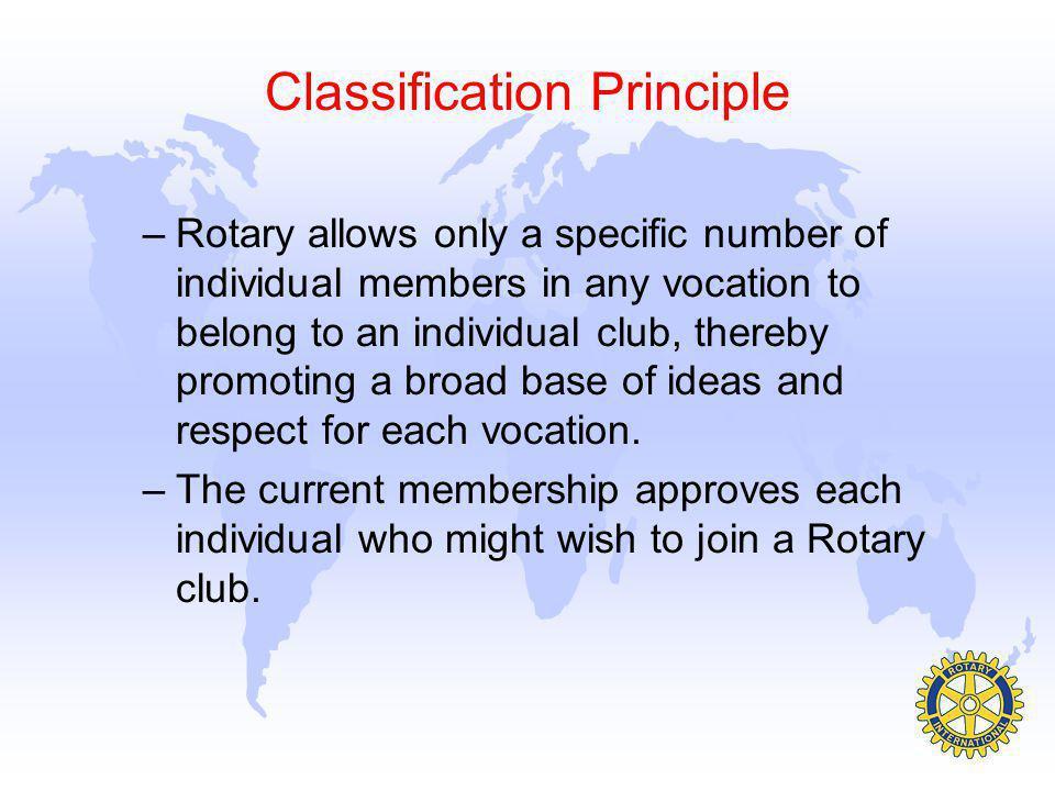 Classification Principle