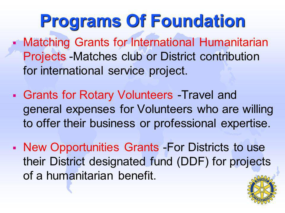 Programs Of Foundation