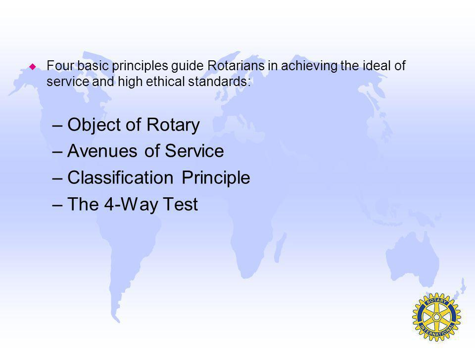 Classification Principle The 4-Way Test