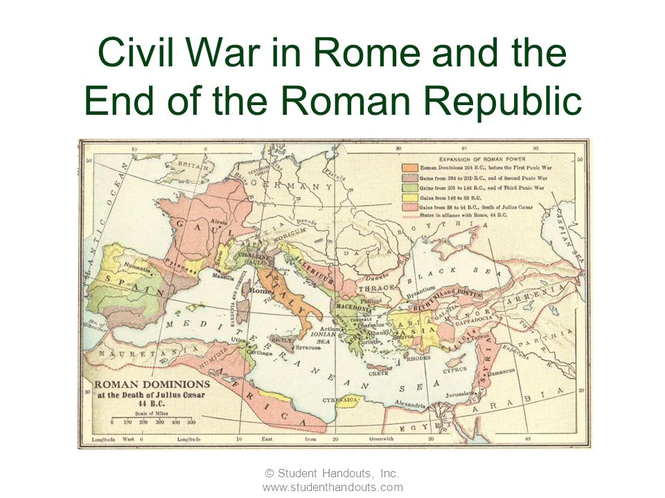 Civil War in Rome and the End of the Roman Republic