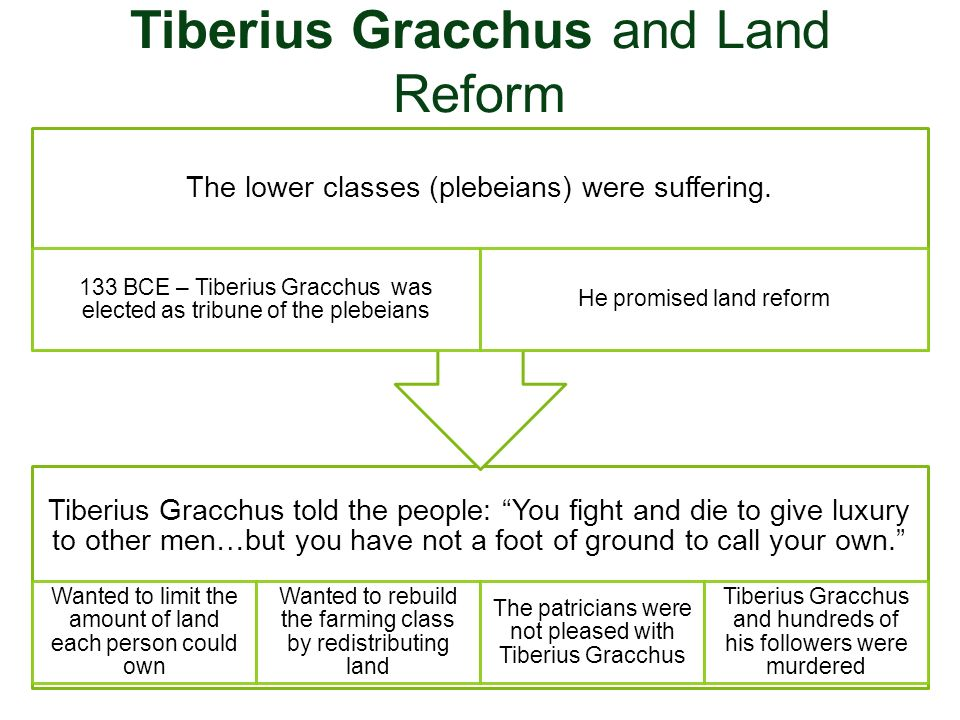 Tiberius Gracchus and Land Reform