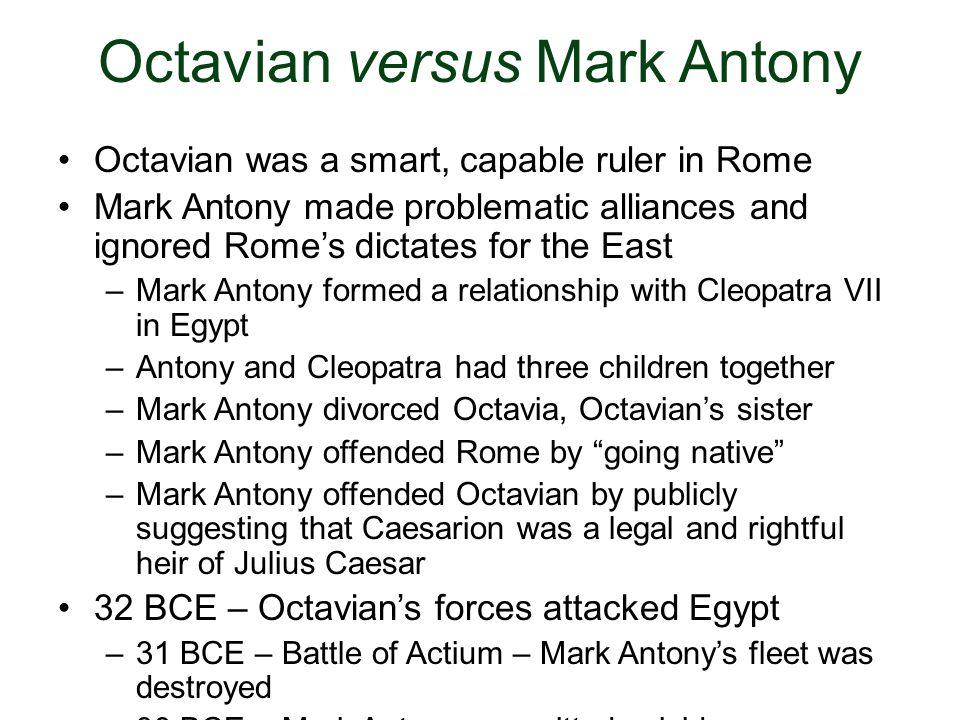 Octavian versus Mark Antony