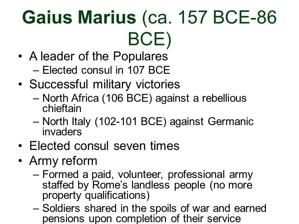 Gaius Marius (ca. 157 BCE-86 BCE)