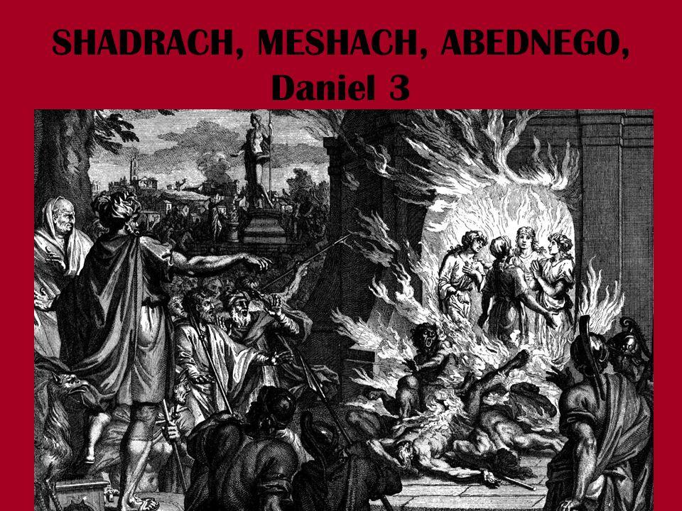 SHADRACH, MESHACH, ABEDNEGO, Daniel 3