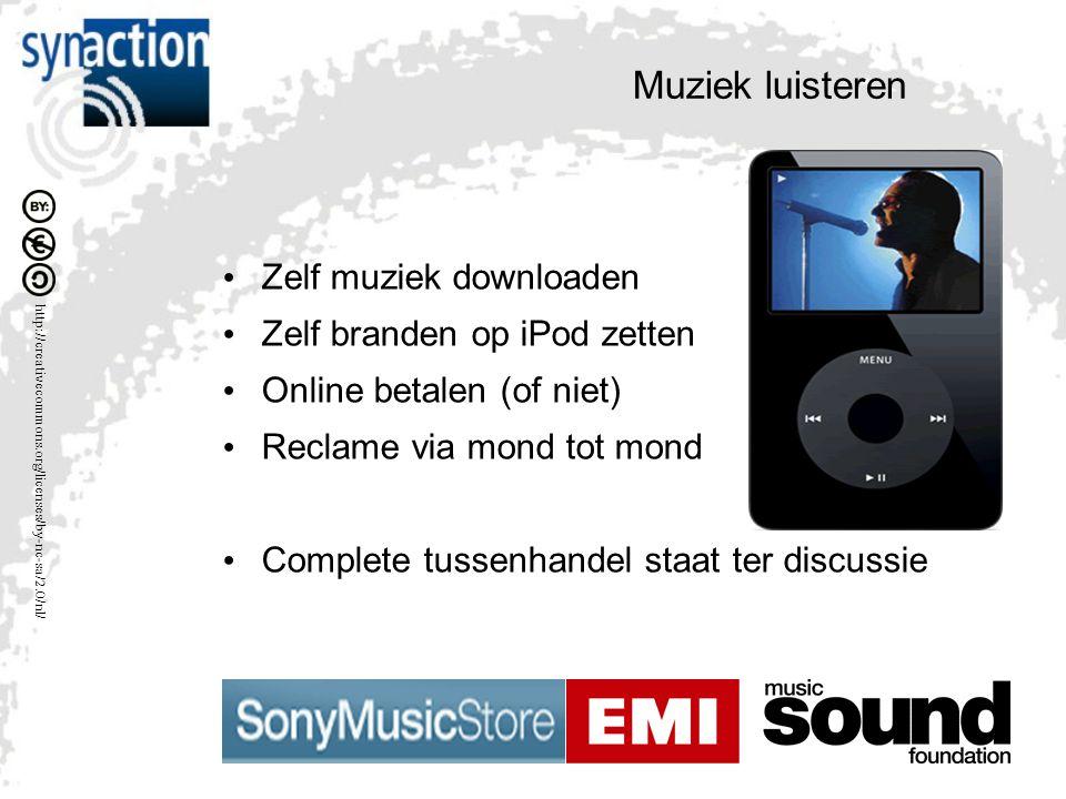 Muziek luisteren Zelf muziek downloaden Zelf branden op iPod zetten