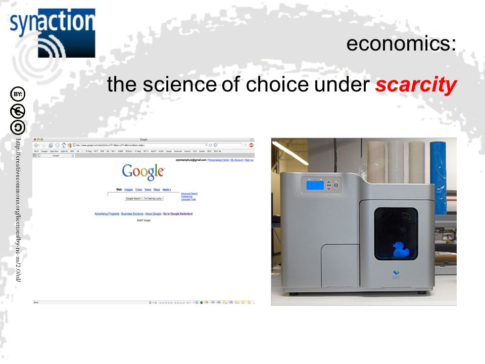 economics: the science of choice under scarcity
