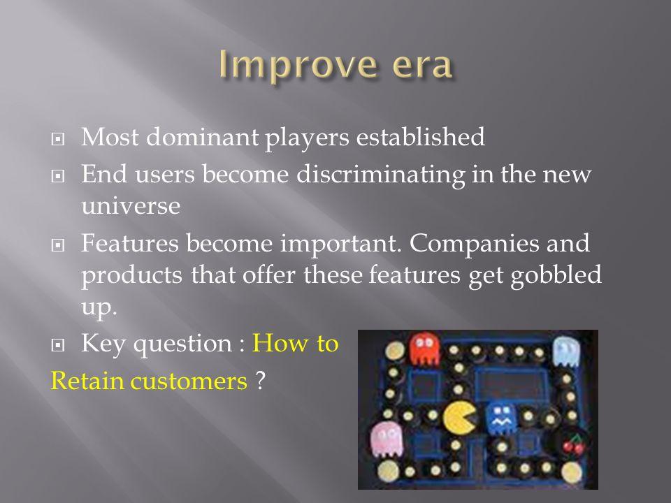 Improve era Most dominant players established