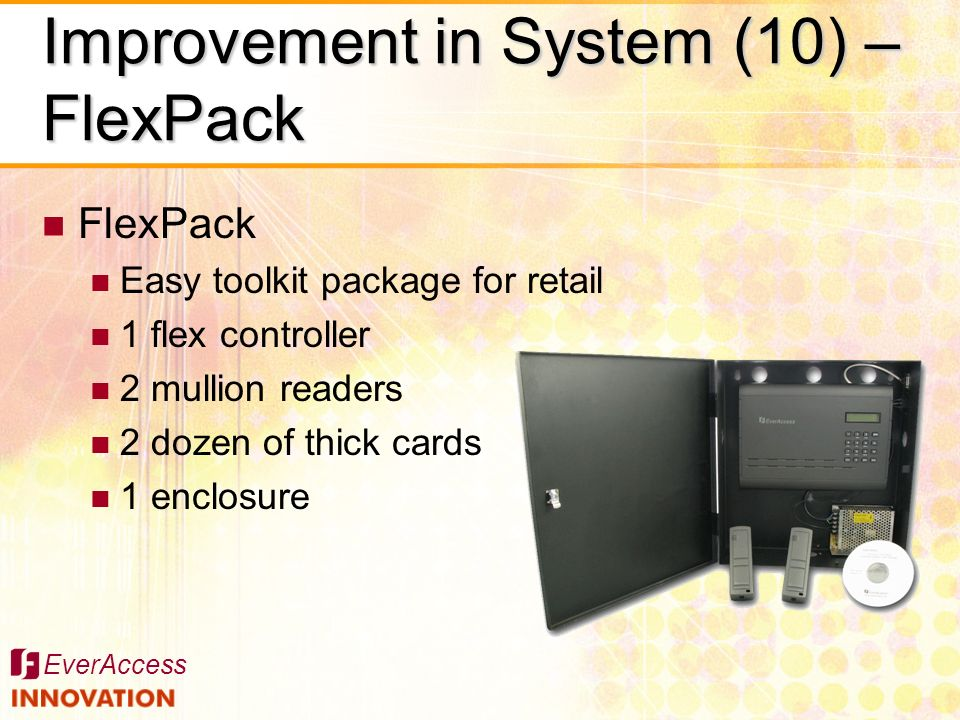 Improvement in System (10) –FlexPack