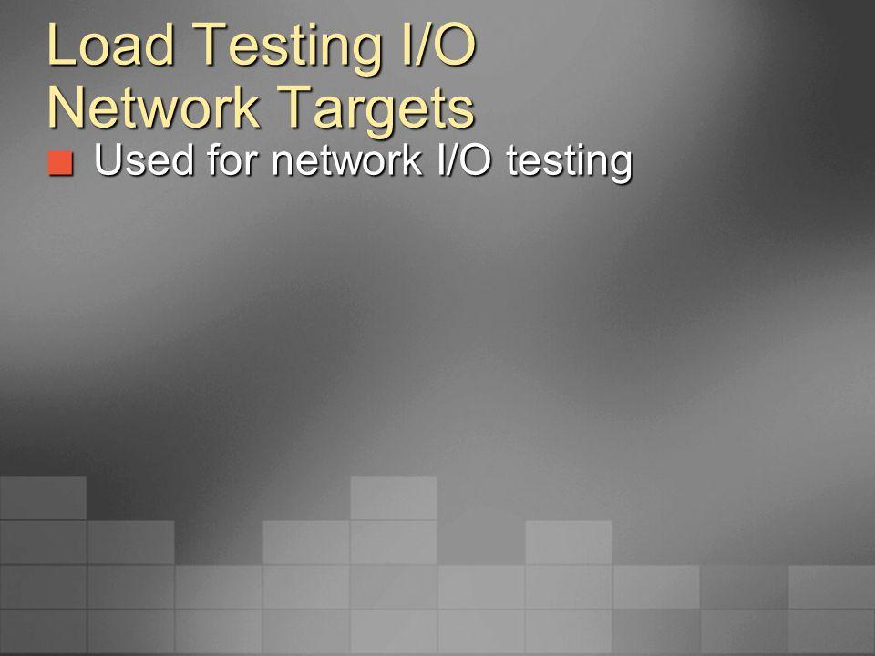 Load Testing I/O Network Targets