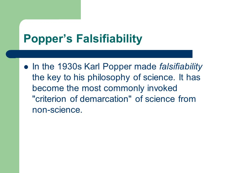 Popper's Falsifiability