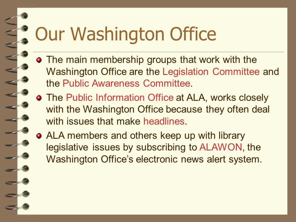 Our Washington Office
