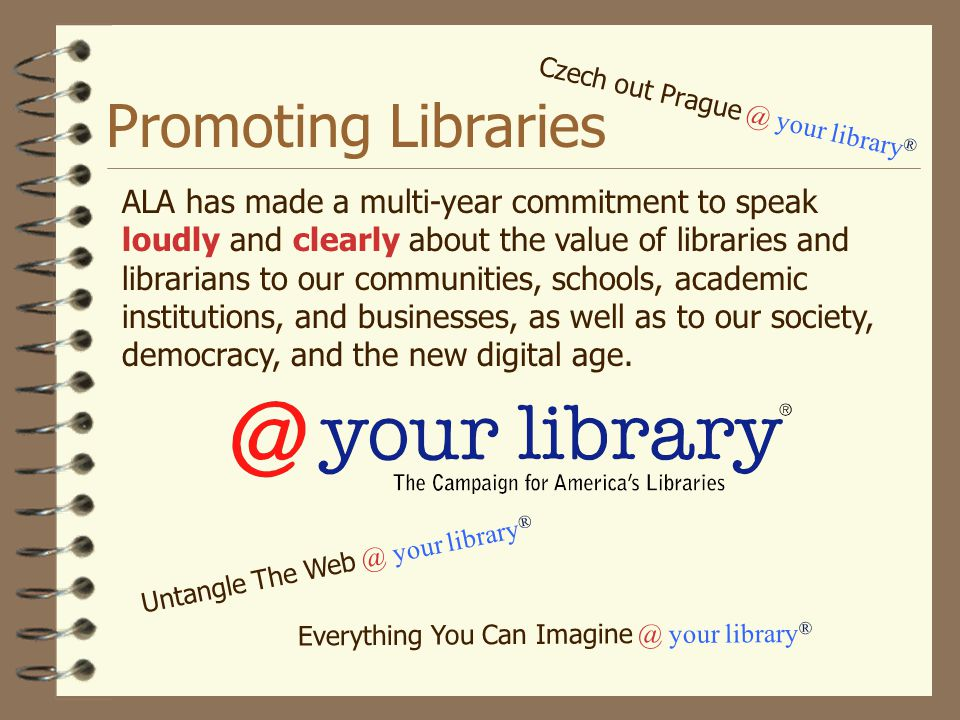 Promoting Libraries Czech out Prague @ your library®