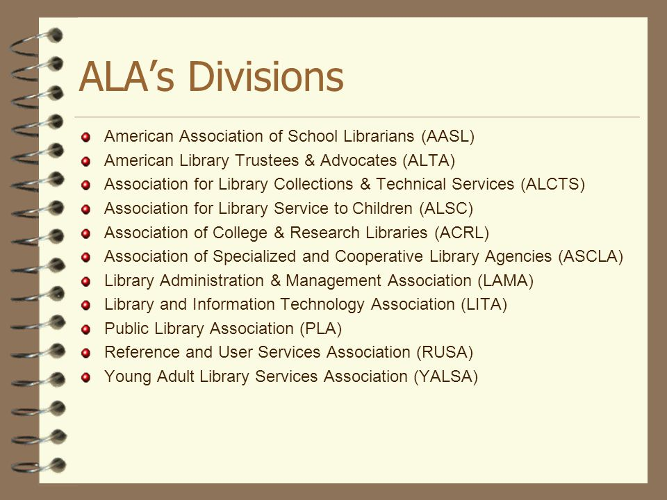 ALA's Divisions American Association of School Librarians (AASL)