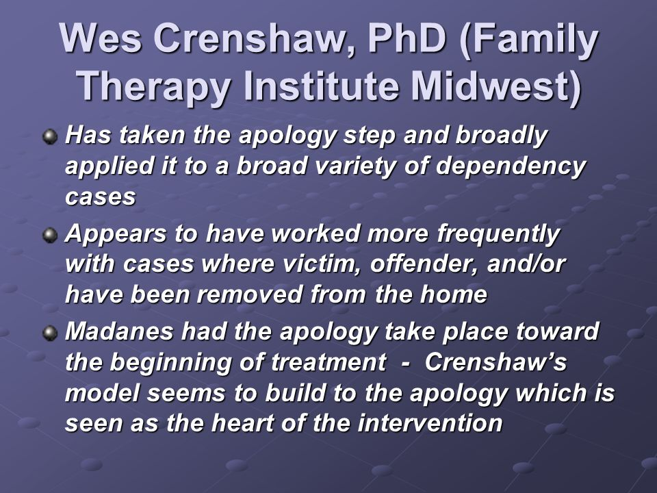 Wes Crenshaw, PhD (Family Therapy Institute Midwest)