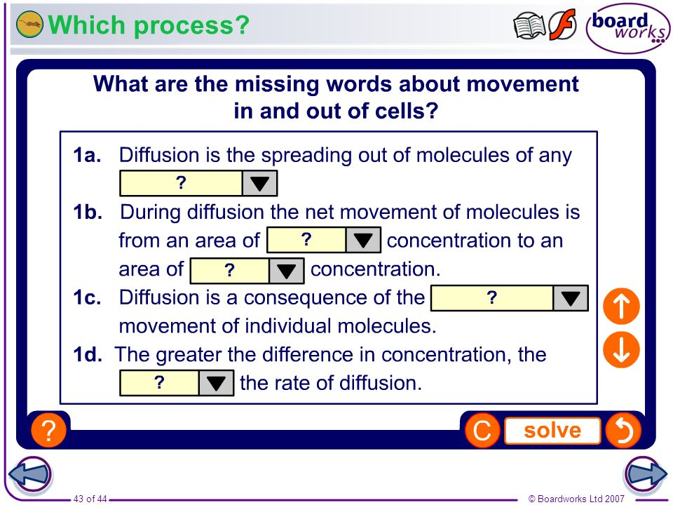 Which process Boardworks GCSE Additional Science: Biology