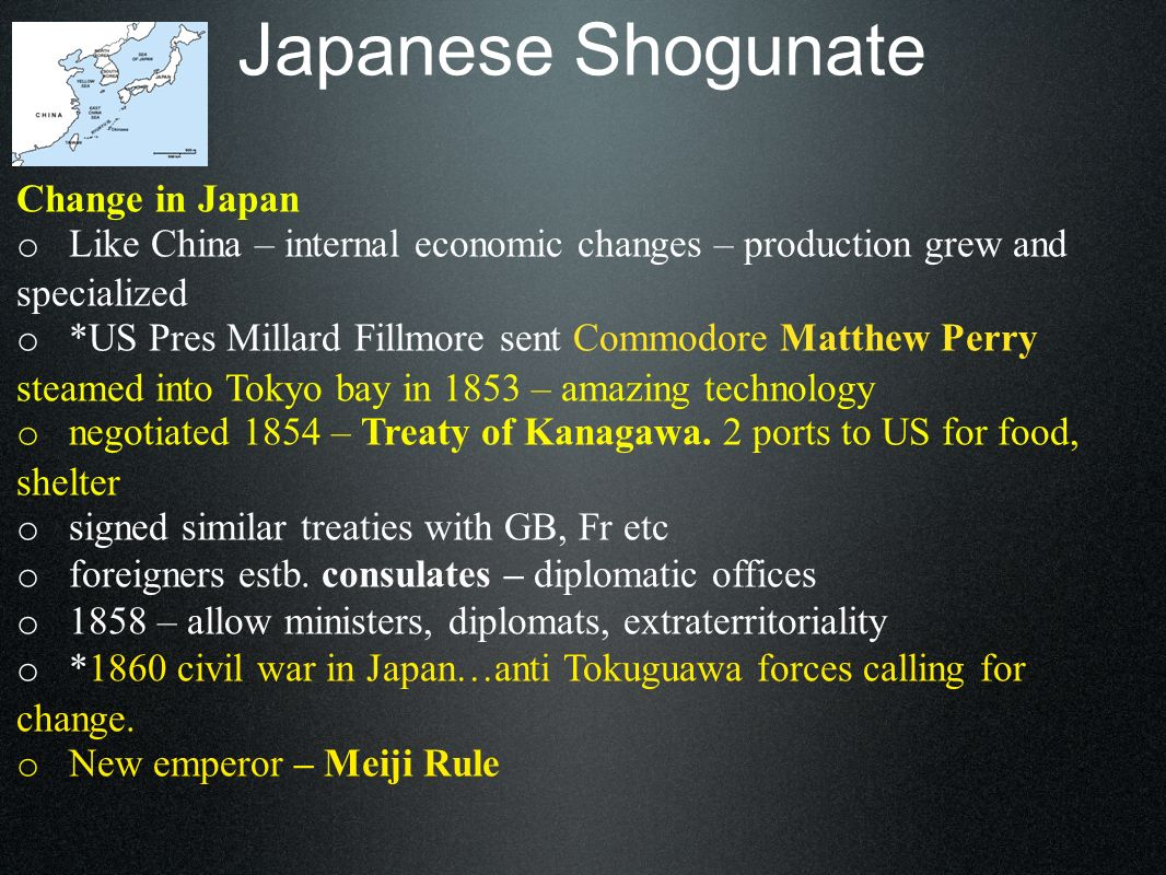 Japanese Shogunate Change in Japan