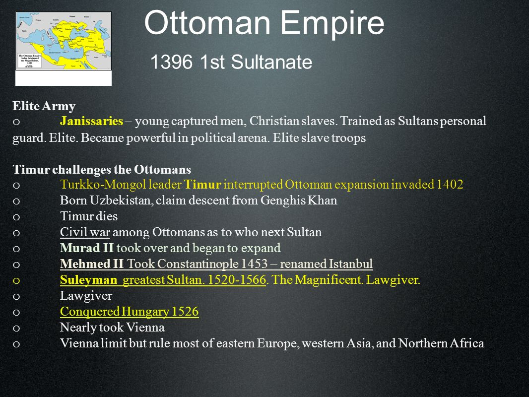Ottoman Empire 1396 1st Sultanate Elite Army