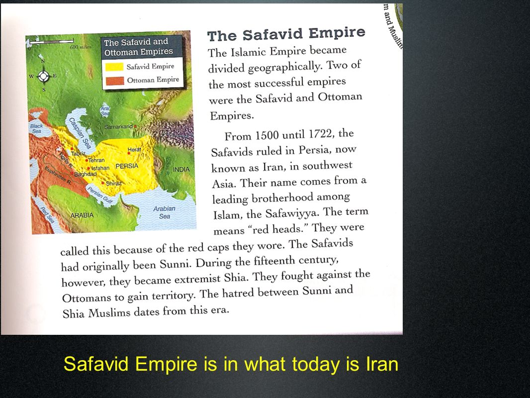 Safavid Empire is in what today is Iran