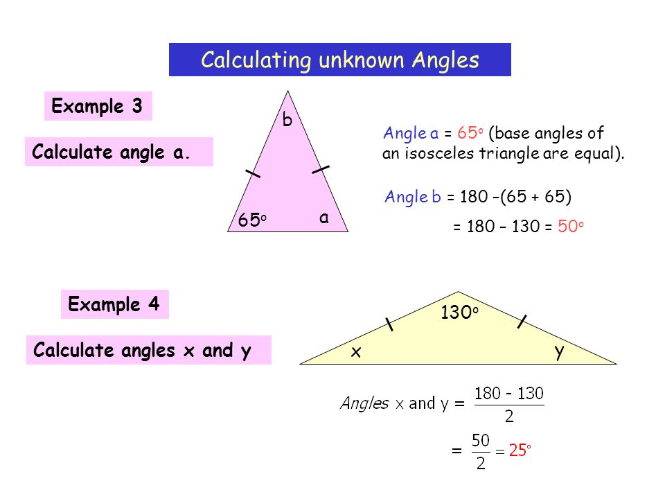 Calculating unknown Angles