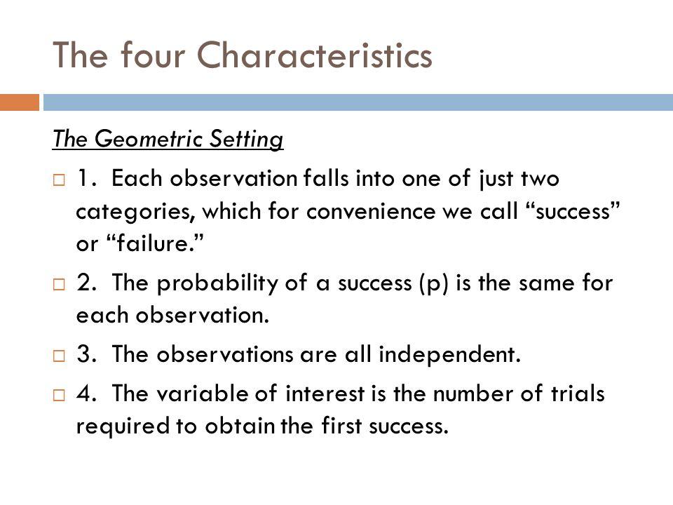 The four Characteristics
