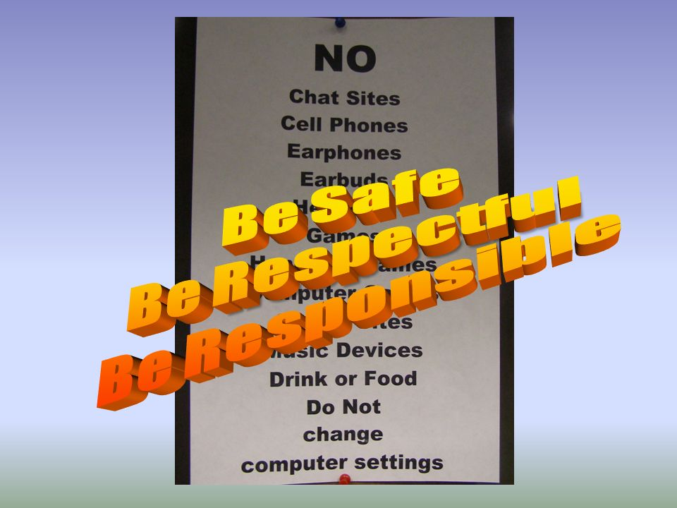 Be Safe Be Respectful Be Responsible