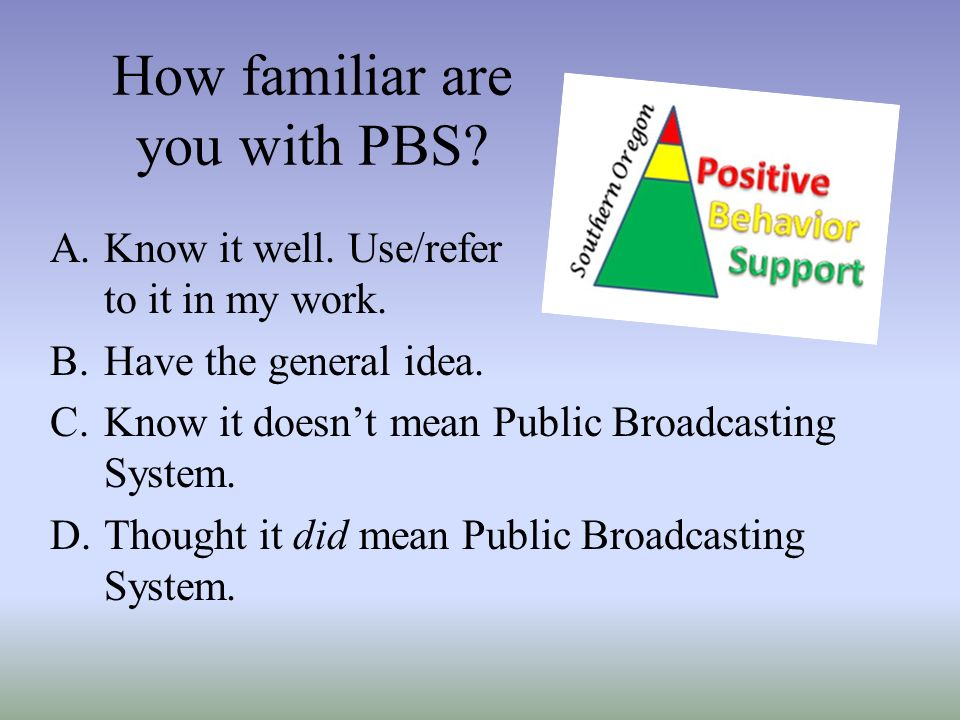 How familiar are you with PBS