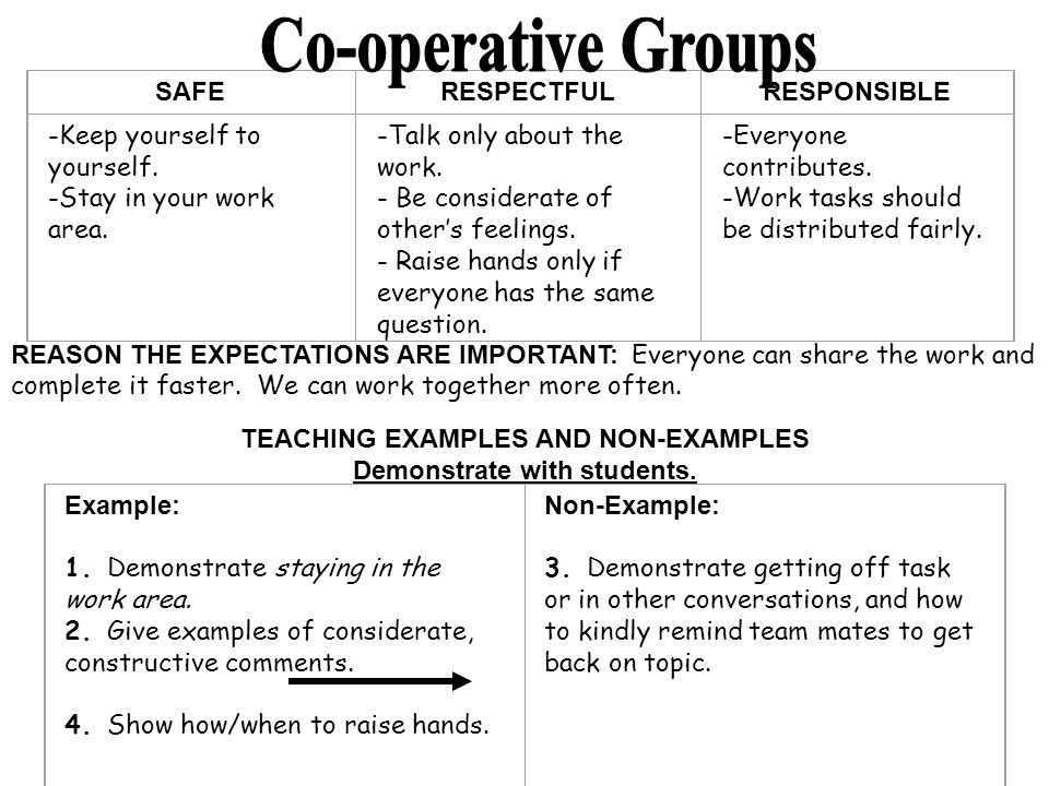 Co-operative Groups SAFE RESPECTFUL RESPONSIBLE