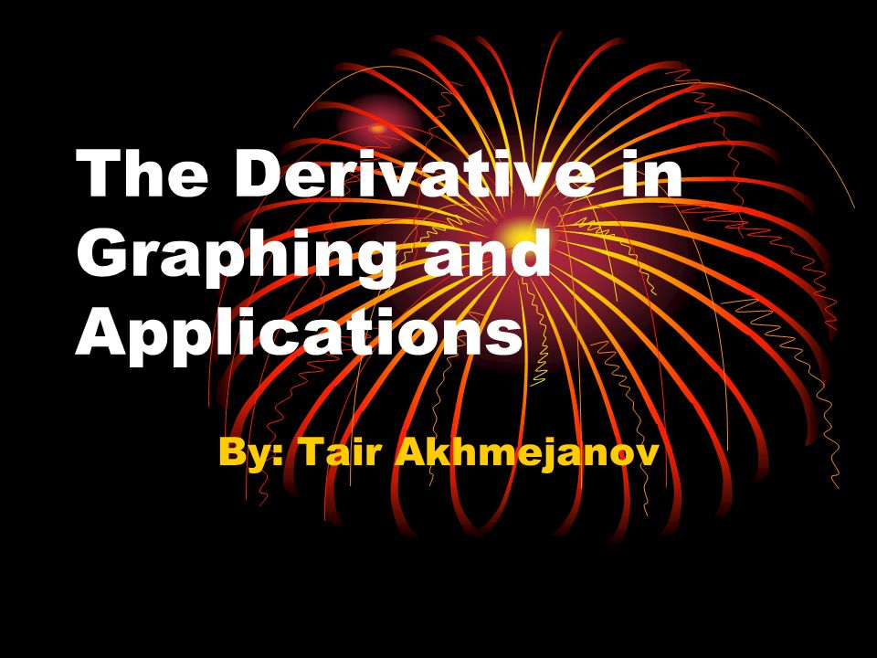 The Derivative in Graphing and Applications