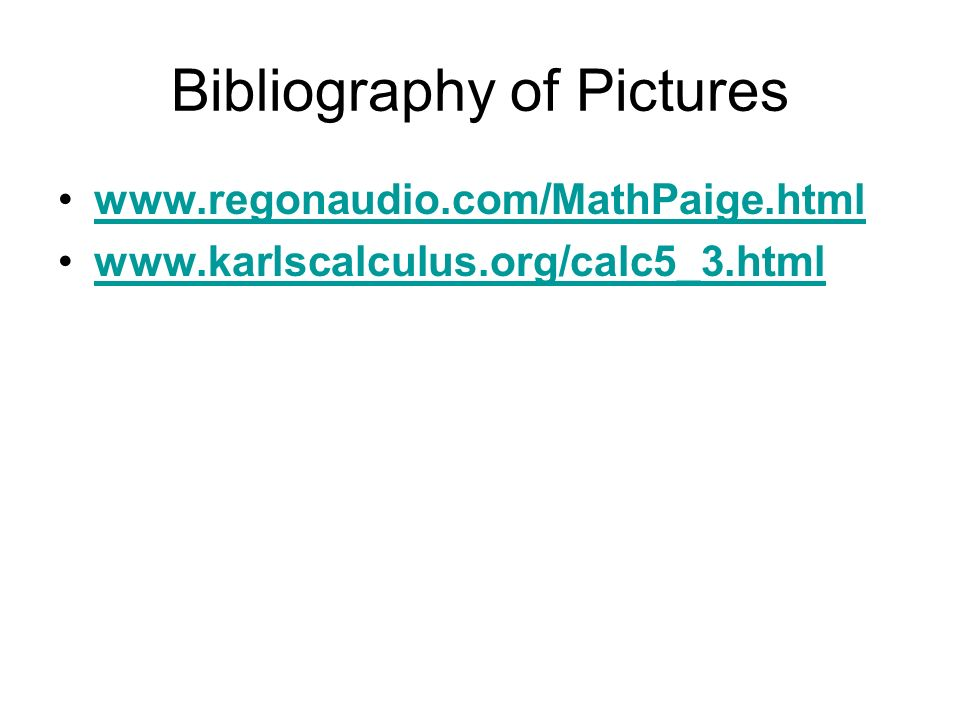 Bibliography of Pictures