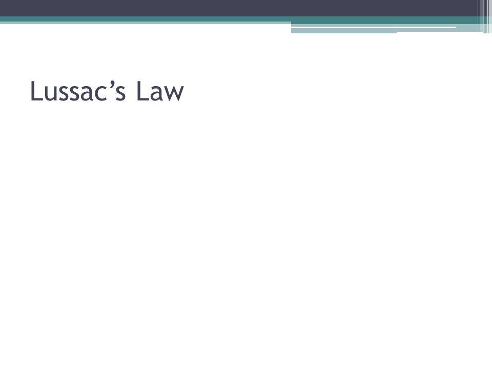 Lussac's Law