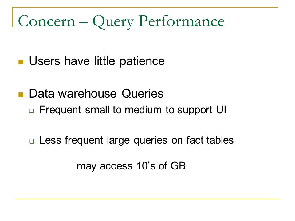 Concern – Query Performance