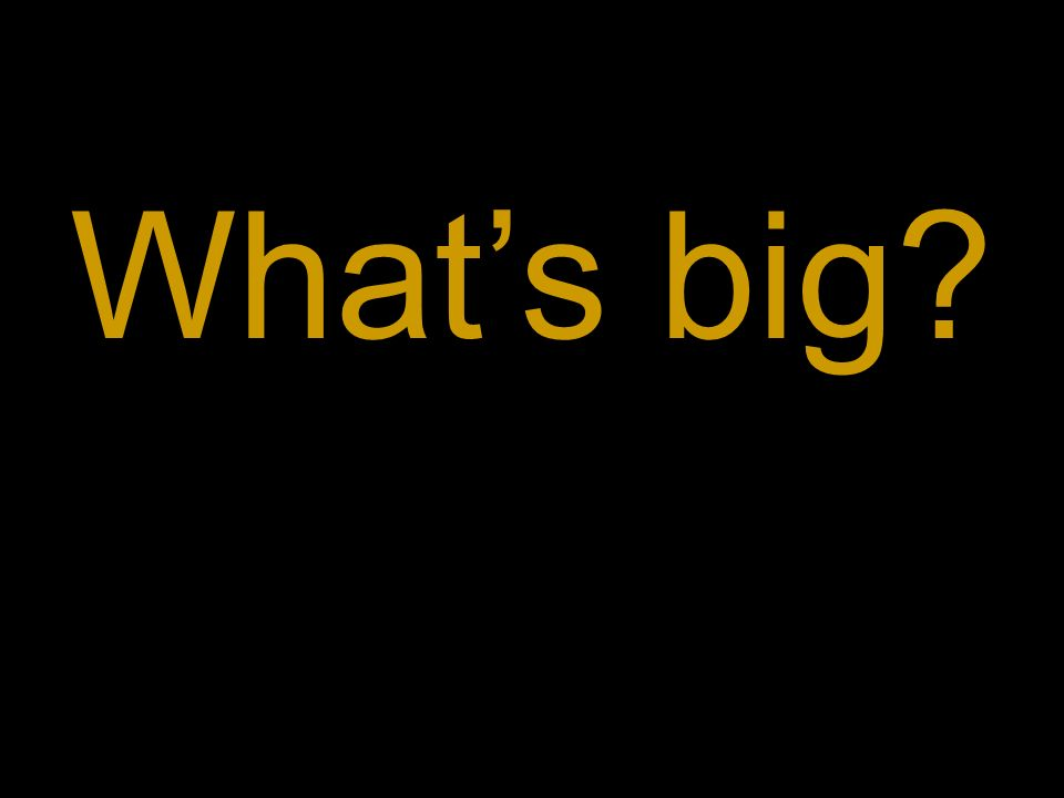 What's big