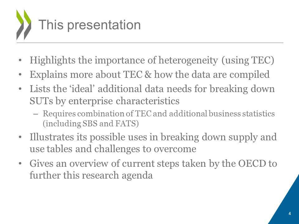 This presentation Highlights the importance of heterogeneity (using TEC) Explains more about TEC & how the data are compiled.