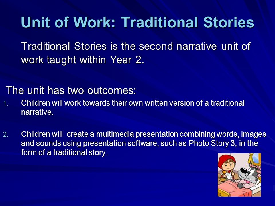 Unit of Work: Traditional Stories