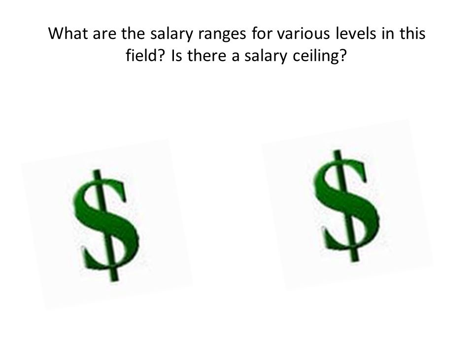 What are the salary ranges for various levels in this field