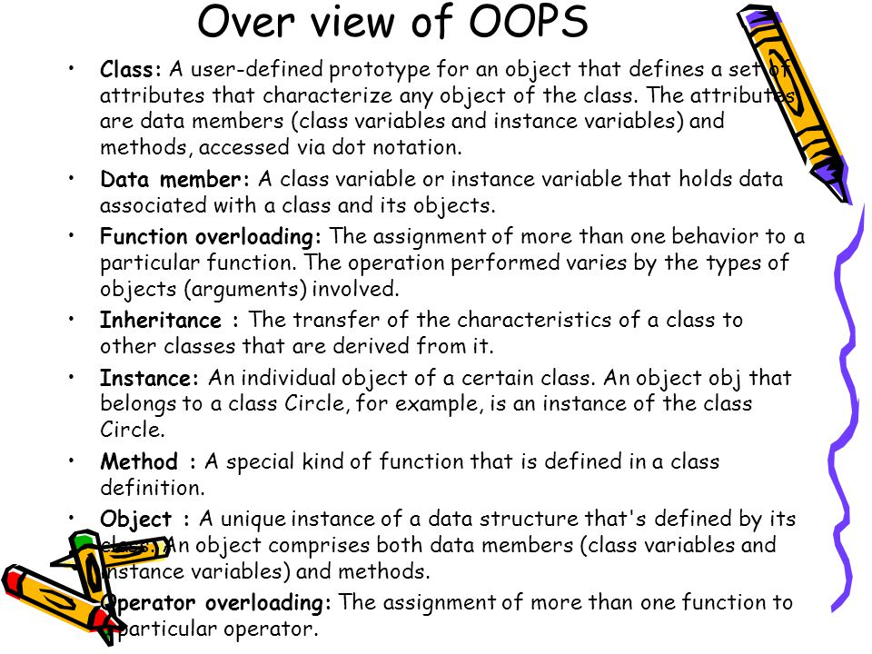 Over view of OOPS