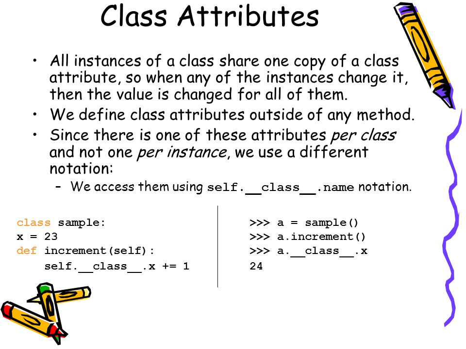 Class Attributes