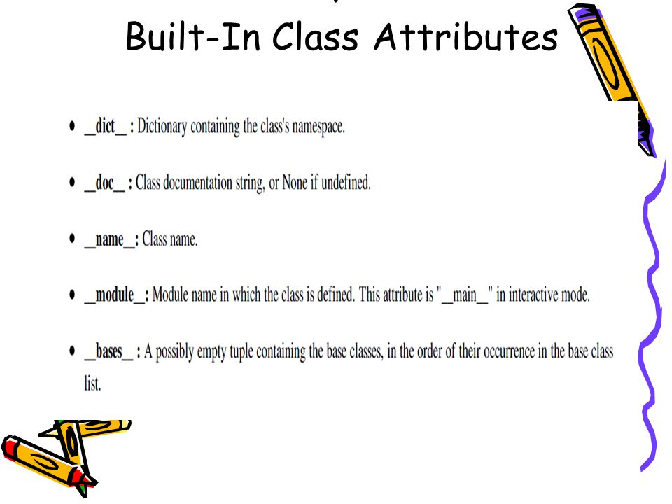 : Built-In Class Attributes
