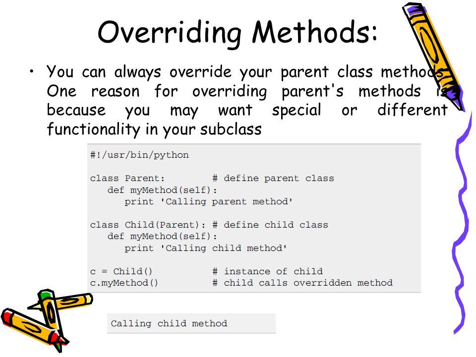 Overriding Methods: