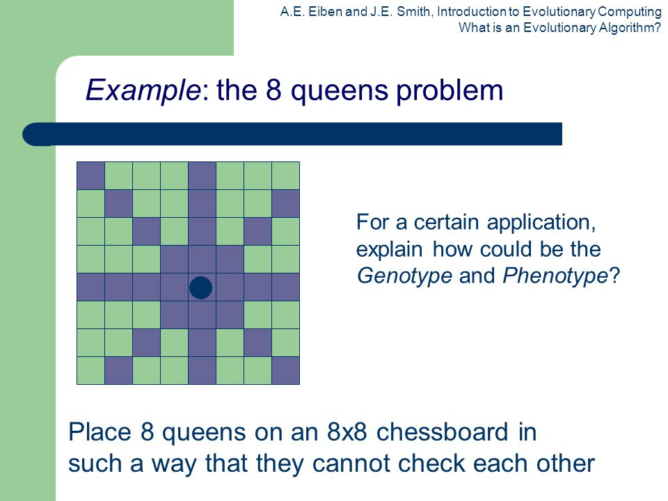 Example: the 8 queens problem