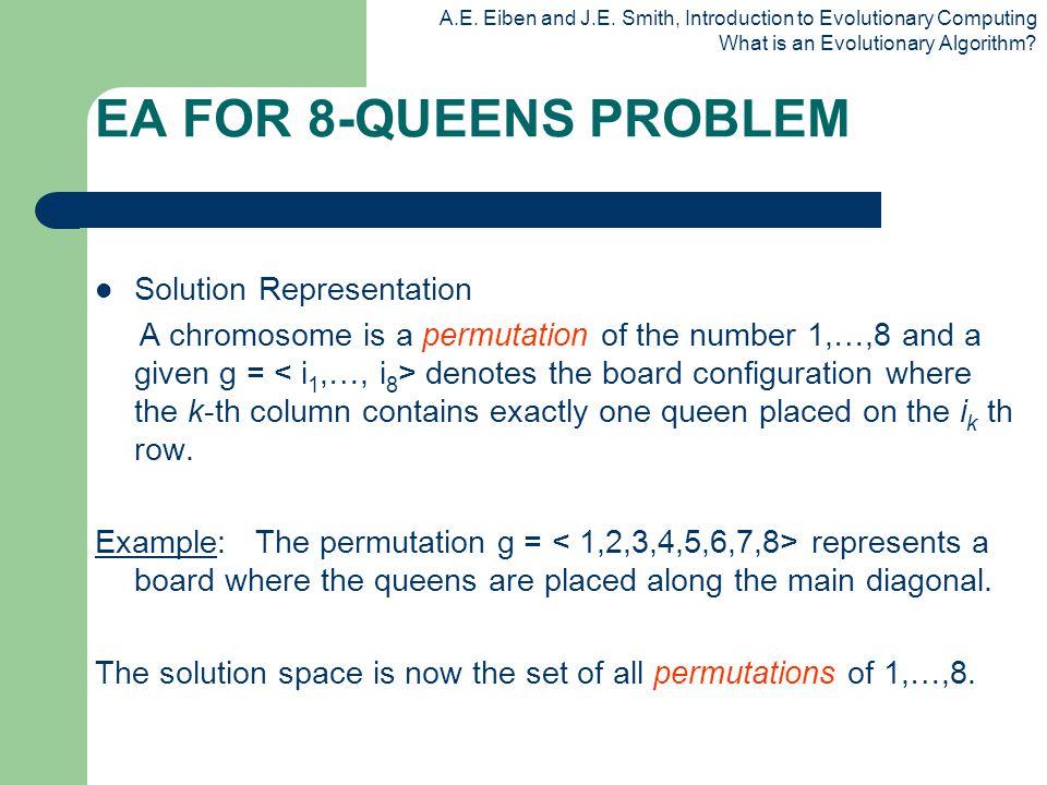 EA FOR 8-QUEENS PROBLEM Solution Representation