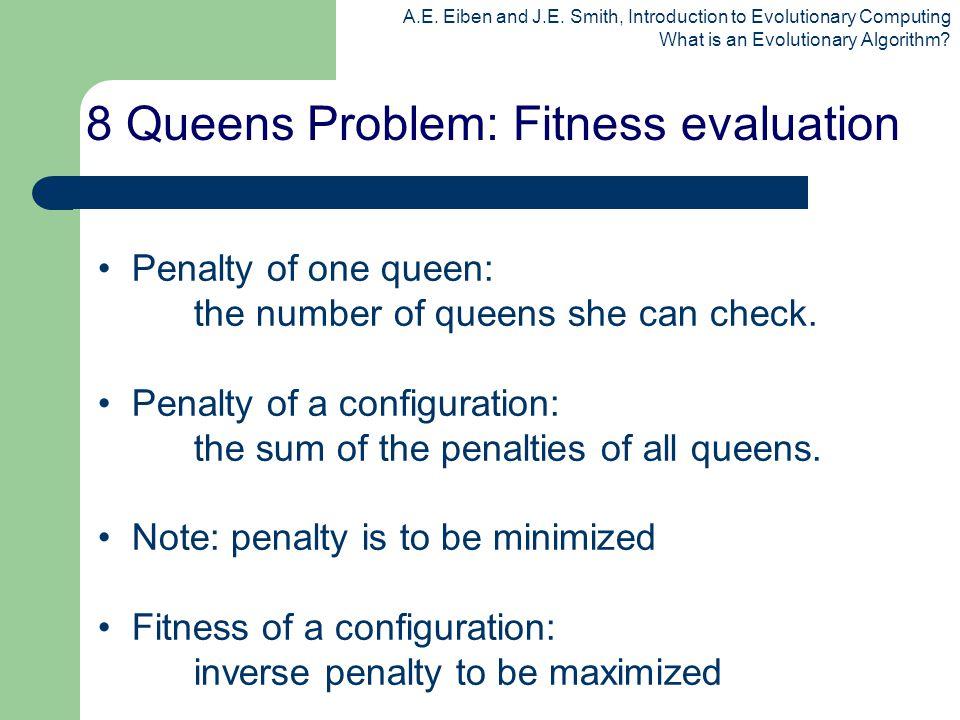 8 Queens Problem: Fitness evaluation