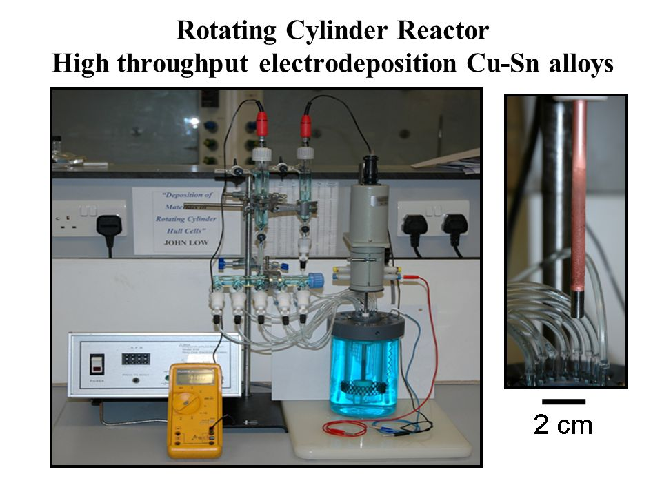 Rotating Cylinder Reactor High throughput electrodeposition Cu-Sn alloys