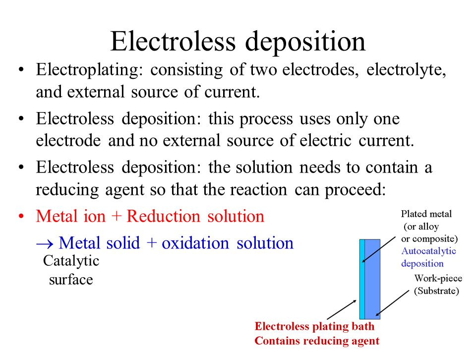 Electroless deposition