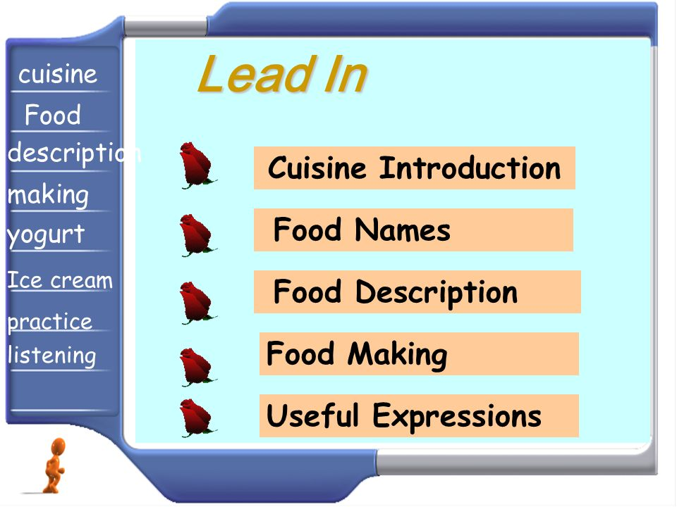 Lead In Cuisine Introduction Food Names Food Description Food Making