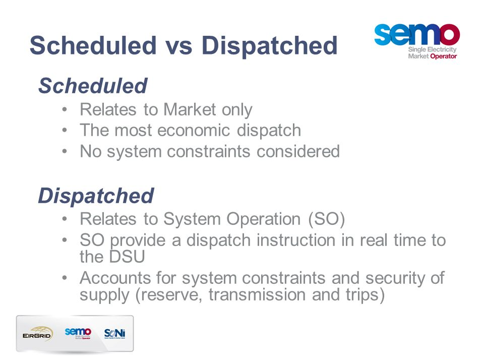 Scheduled vs Dispatched