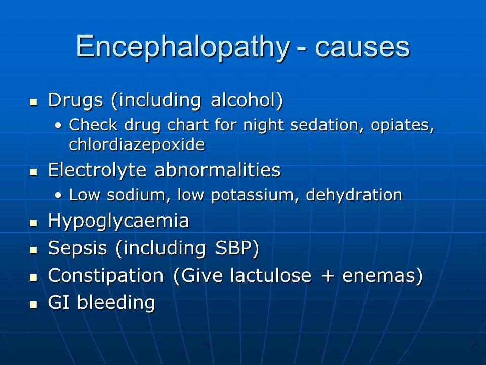 Encephalopathy - causes