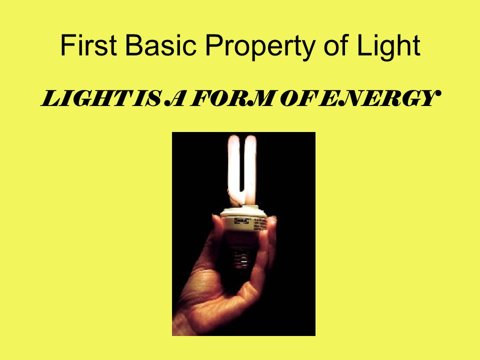 First Basic Property of Light