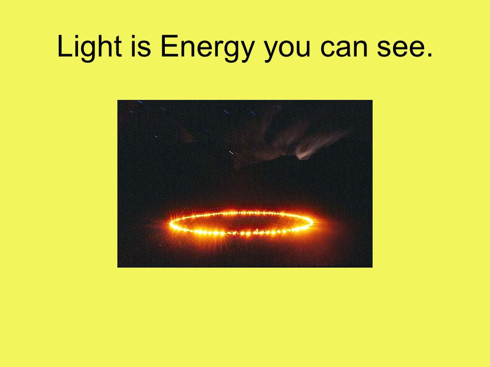 Light is Energy you can see.
